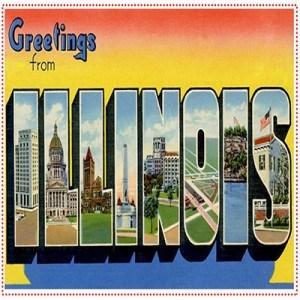 Vintage Illinois stamp