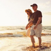 Senior Couple Florida Beach