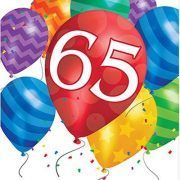 Turning 65 Birthday Balloon